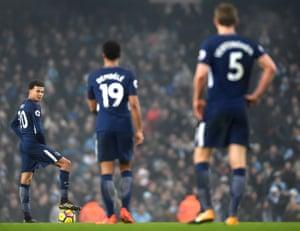 Dele Alli and Tottenham lie 21 points adrift of Manchester City.