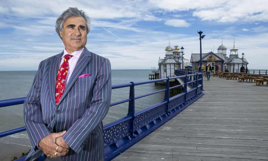 Abid Gulzar, photographed in 2016 on Eastbourne pier