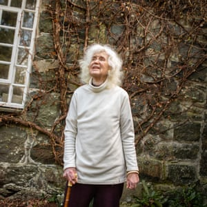 93-year-old writer and historian Jan Morris photographed at home in Wales