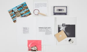 From the Imprint 93 archive … clockwise from top left, Gareth Jones, Postcard; Jeff Luke, Dowel and Wire; Jessica Voorsanger, Baby Shower (Three Minutes of Etta); Alan Kane, Clare, with unique miniature version; Jessica Voorsanger, 14.2.95; Chris Ofili, Black.