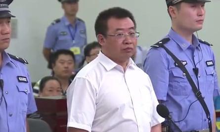 Jiang Tianyong in court in Changsha.