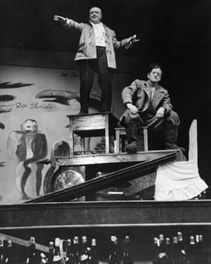 Influential … a performance of Mr Puntila and His Man Matti in the Berliner Ensemble theatre in 1949.