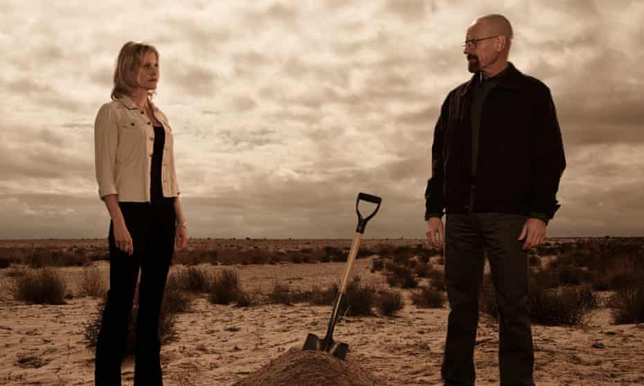 Anna Gunn as Skyler White and Bryan Cranston as Walter White in season five of Breaking Bad.