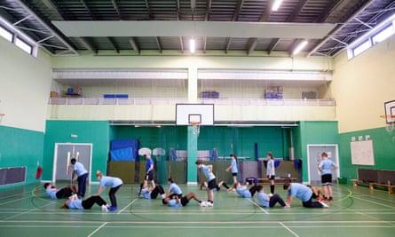 A secondary school gymnasium.