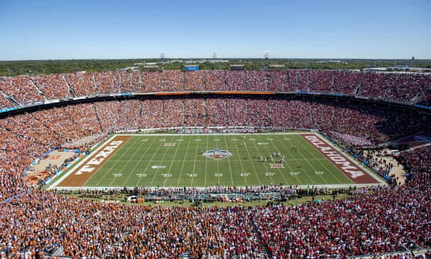 Texas and Oklahoma fans fill the Cotton Bowl in Dallas.