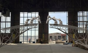 Using robotic printers 'that can draw steel structures in 3D, we will print a (pedestrian) bridge over water in the centre of Amsterdam,' engineering startup company MX3D said in a statement.