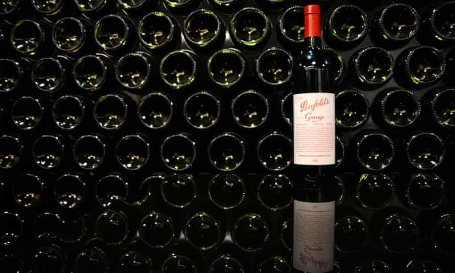 Penfolds Grange wine bottles.