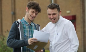 Students collect A-level results