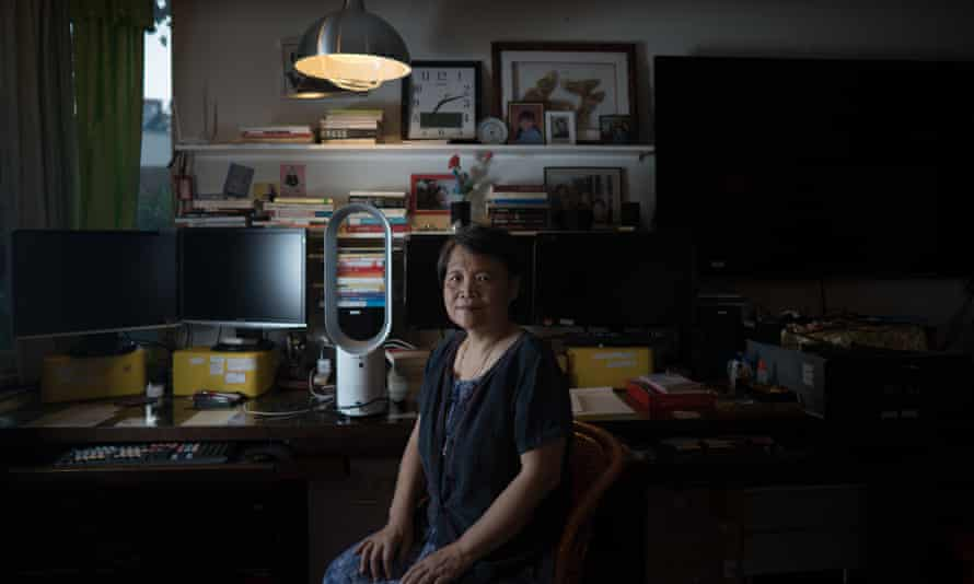Chinese dissident filmmaker Ai Xiaoming in her home in Wuhan.