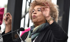 Activist Angela Davis, who cast her first-ever vote for a major political party in supporting Obama in 2008.