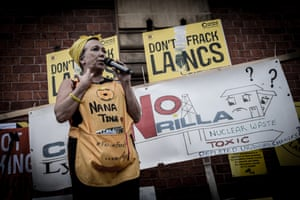 Tina Louise Rothery outside Lancashire County Hall last year.