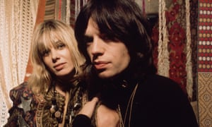 Anita Pallenberg and Mick Jagger in a scene from the 1970 film Performance.