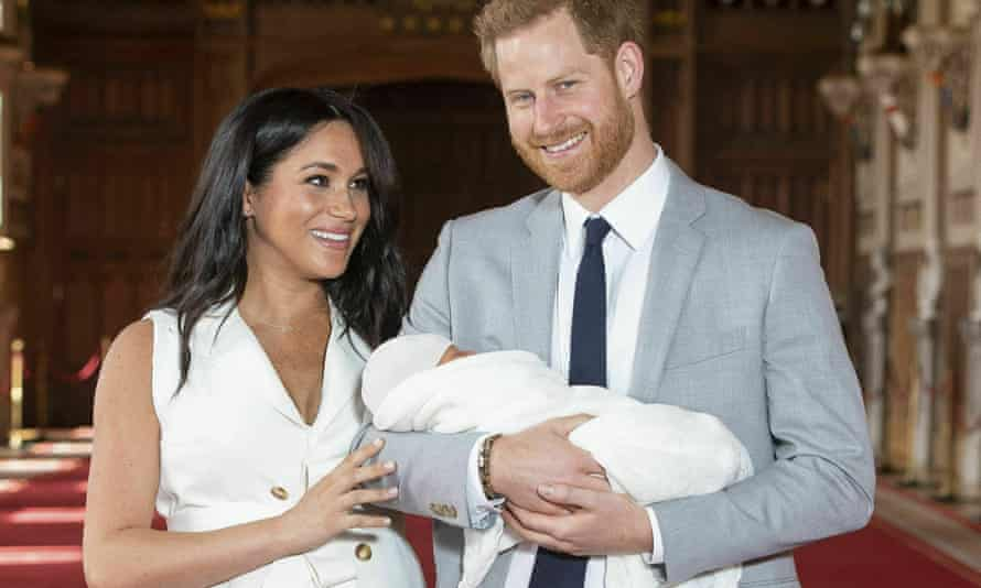 Prince Harry and his wife, Meghan, after the birth of their first child in May 2019
