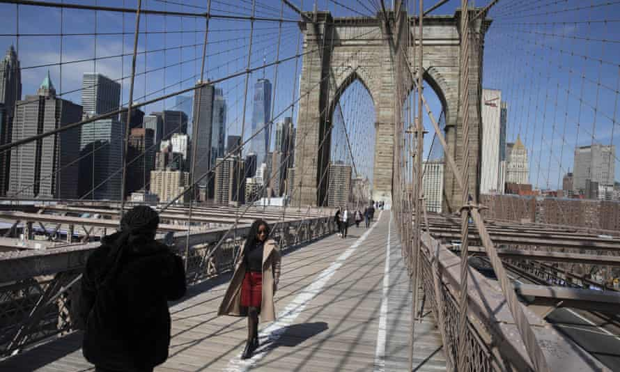 The Brooklyn Bridge opened in 1883 to connect Brooklyn with Manhattan, and is popular with commuters and tourists. But the bridge is narrow and overcrowding is common.