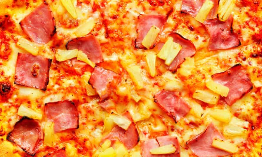A Hawaiian pizza.