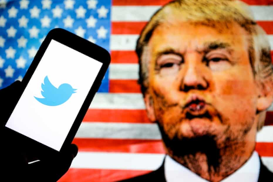 Trump and Twitter logo