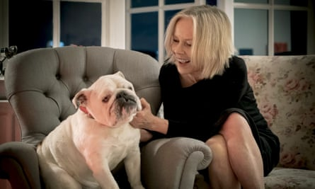 Jo Good with a four-footed friend in Dogs and the City