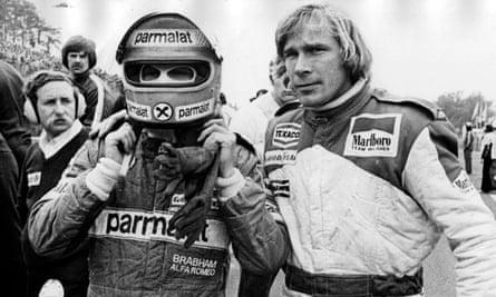 James Hunt and Niki Lauda