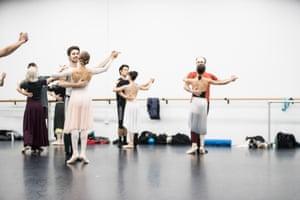 Queensland Ballet artists rehearse