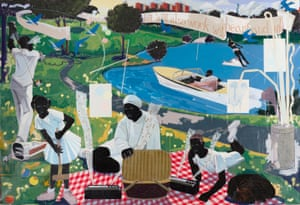 Past Times, 1997, by Kerry James Marshall.