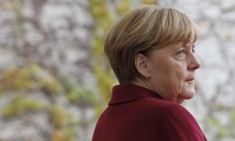 The German chancellor, Angela Merkel, in Berlin on Friday
