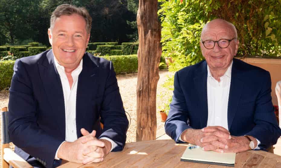 Piers Morgan (left) and Rupert Murdoch, executive chairman of News Corp.
