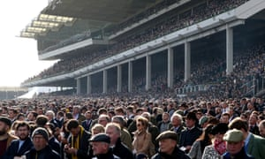 Crowds in the stands during day four of the Cheltenham Festival.