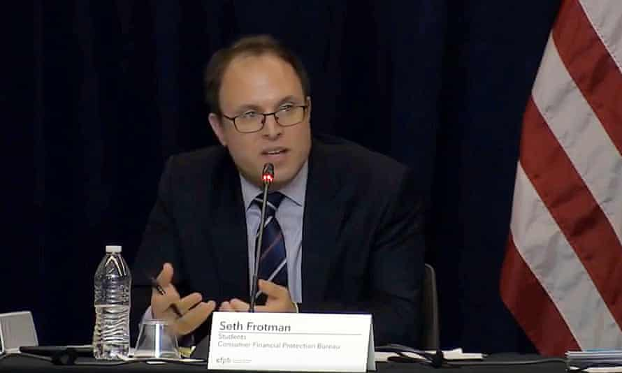Seth Frotman left the Consumer Financial Protection Bureau: 'There was no desire to help.'