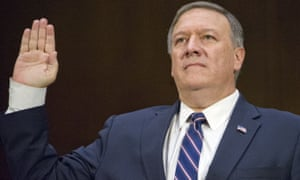 Mike Pompeo, the newly installed secretary of state.