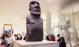 The Hoa Hakananai'a at the British Museum in London