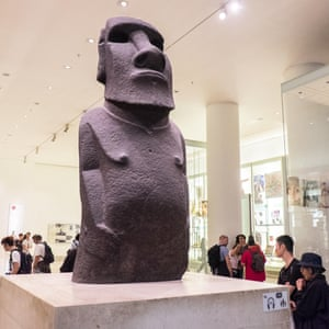 'You have our soul' … Hoa Hakananai'a, the Easter Island moai in London's British Museum.