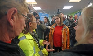 Jo Swinson in Stainforth in South Yorkshire meeting peopel affected by the flooding.