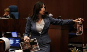 Deputy district attorney Beth Silverman makes her final closing arguments during the murder trial of Lonnie Franklin.