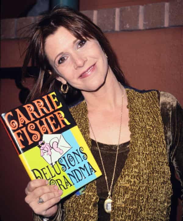 Fisher at a signing for her book Delusions of Grandma in Los Angeles.