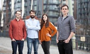 Keiran Olivares Whitaker (far right), with the team at Entocycle.