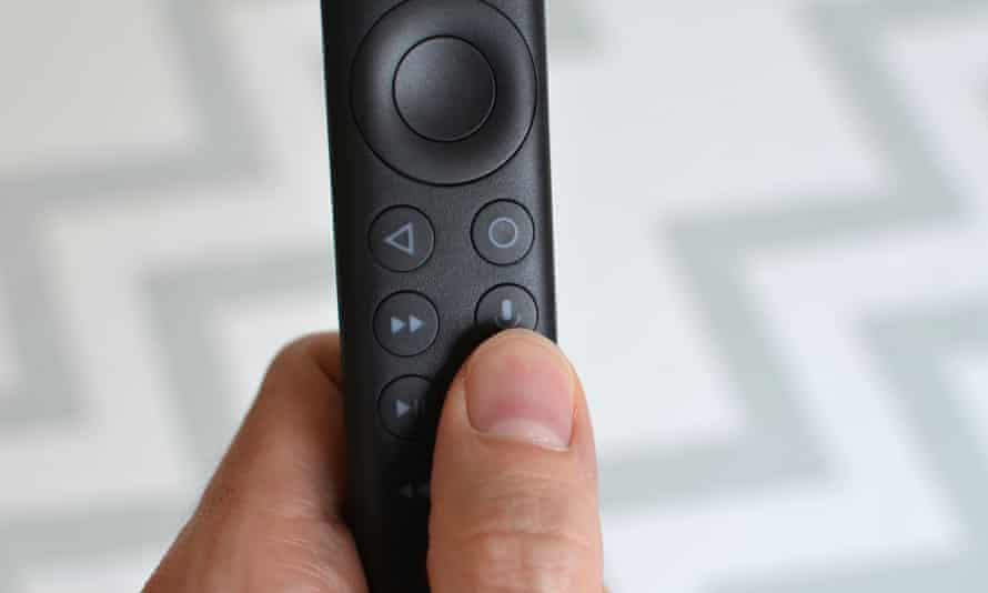 The Nvidia Shield TV remote