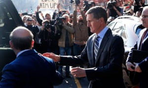 Michael Flynn arrives at federal court to plead guilty to lying to the FBI.