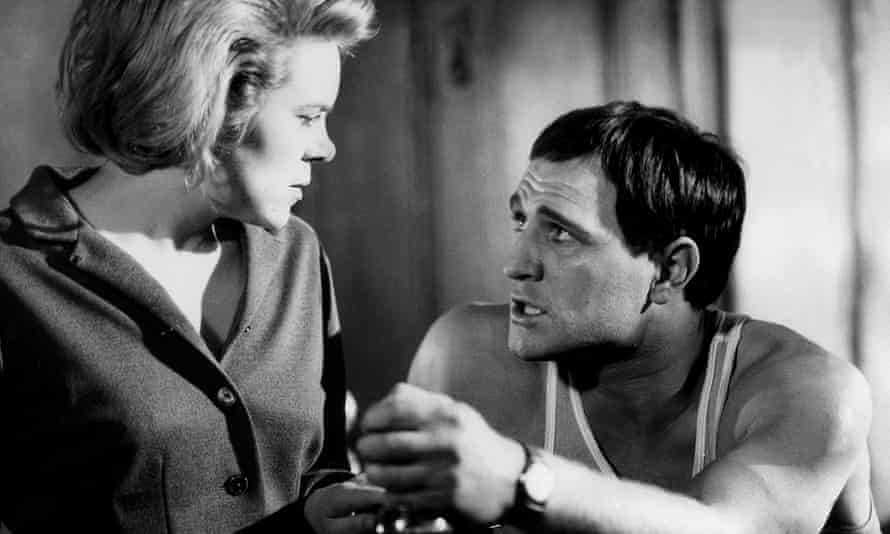 Rachel Roberts and Richard Harris in Lindsay Anderson's film of This Sporting Life.