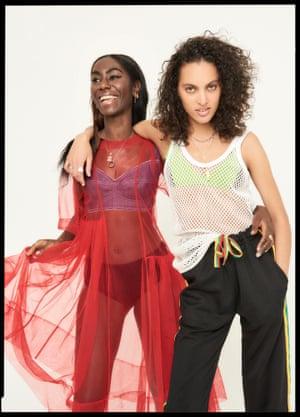 Zahra wears, Dress, £300, Molly Goddard, brownsfashion.com , Bralet, £291, Dolce & Gabbana net-a-porter.com