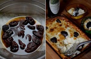 Rachel Roddy's prune, marsala and custard pudding