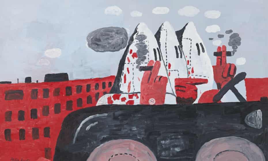 Riding Around by Philip Guston, 1969