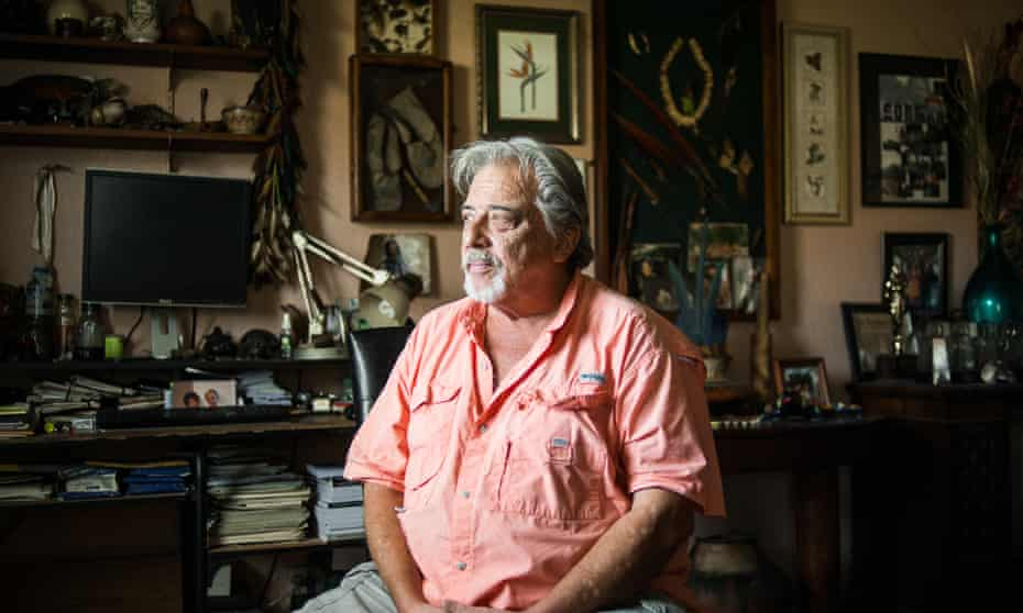 Peter Gorman poses for a portrait at his home in Joshua, TX.