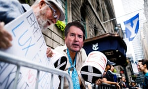 A protest against Brett Kavanugh in New York on Tuesday. Students said any 'credible allegations of sexual assault' against a faculty member should be investigated.
