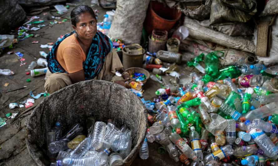 A woman who migated to Dhaka for work