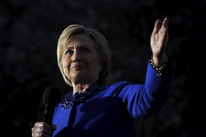 Hillary Clinton speaks during an event in Philadelphia.