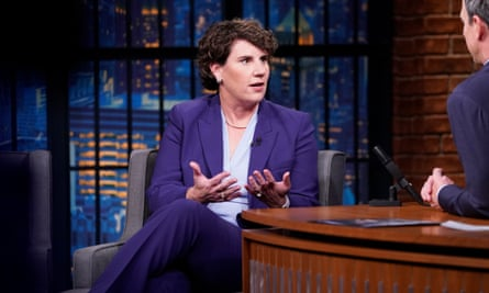 Amy McGrath appears on Seth Meyers' late-night show.