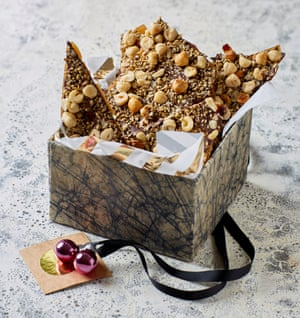Snap decision: Helen Goh's hazelnut and seed brittle.