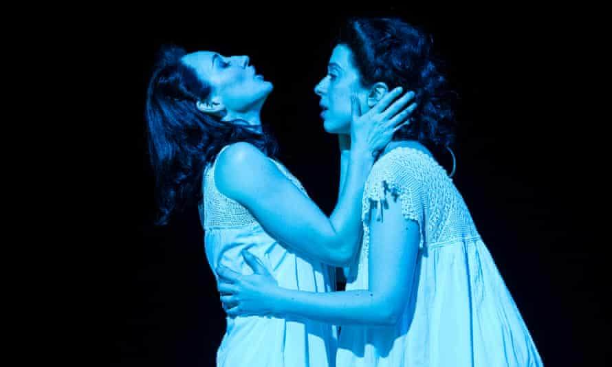 Broadway's first lesbian kiss … Elizabeth A Davis and Adina Verson in a production of Paula Vogel's Indecent in 2019.