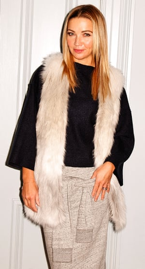 Photograph of Jess Cartner-Morley in a furry gilet