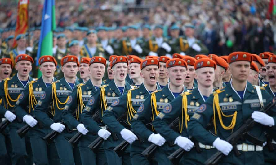 Victory Day military parade in Minsk.